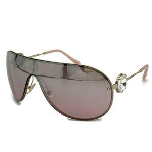 Miu Miu 72mm Faux Crystal Shield Sunglasses
